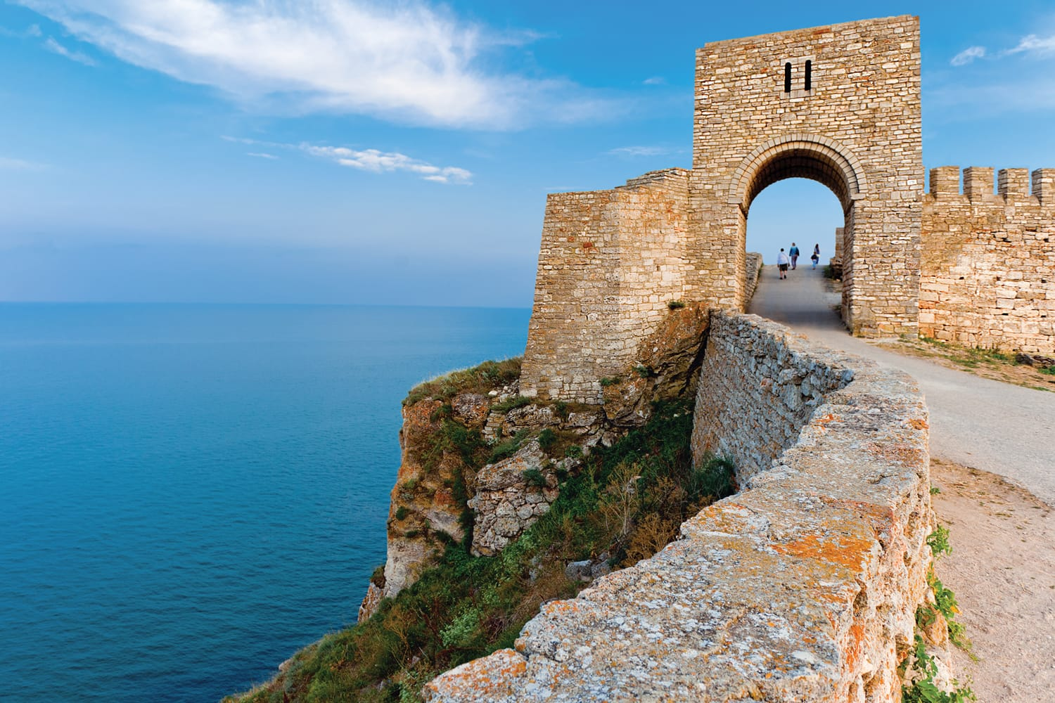 Kaliakra - long and narrow headland in the Southern Dobruja region of the northern Bulgarian Black Sea Coast, 60 km northeast of Varna with an ancient stone fortress.