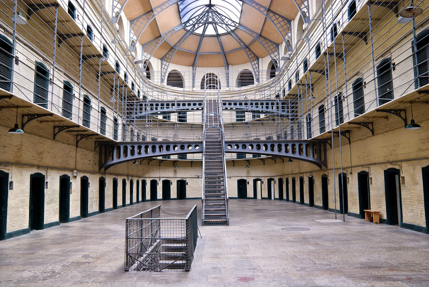 Kilmainham Gaol (Irish: Príosún Chill Mhaighneann), first built in 1796, is a former prison, located in Kilmainham in Dublin, and played an important part in Irish history.
