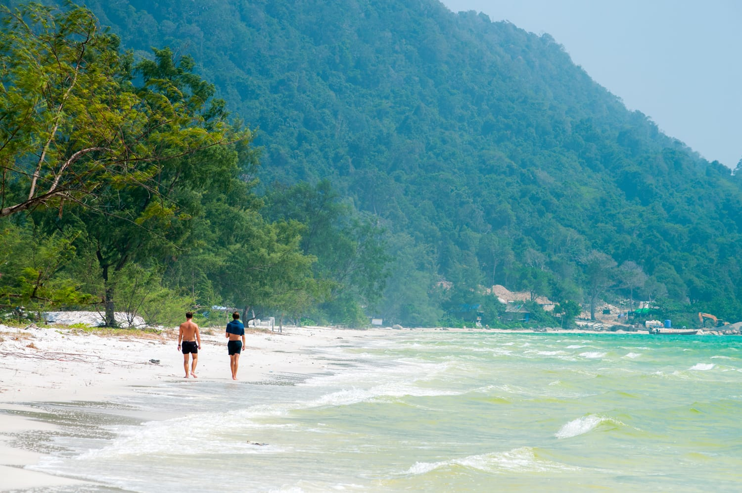 Long Beach is one of the most beautiful beaches in Koh Rong island, Sihanoukville, Cambodia.