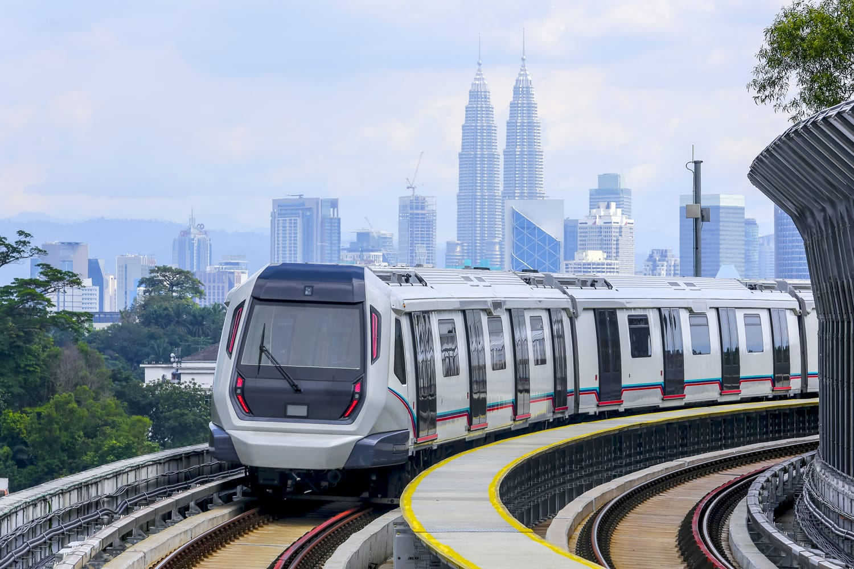 Malaysia MRT (Mass Rapid Transit) train in KL