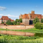 Panoramic view an old Teutonic Knights' fortress in Malbork, Poland.