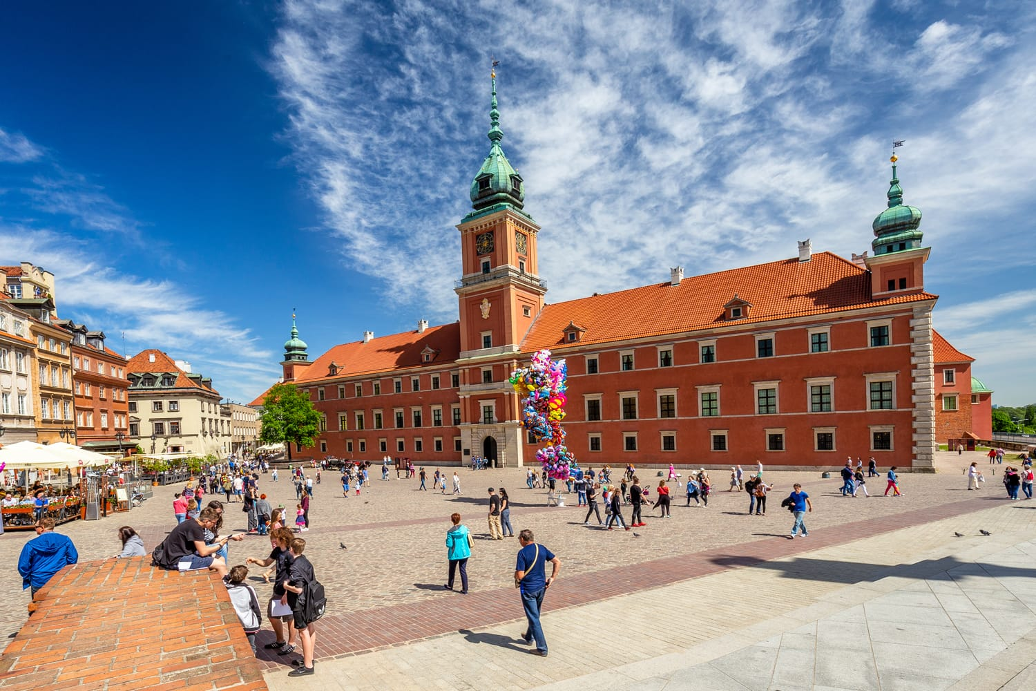 Royal Castle at central square of Warsaw
