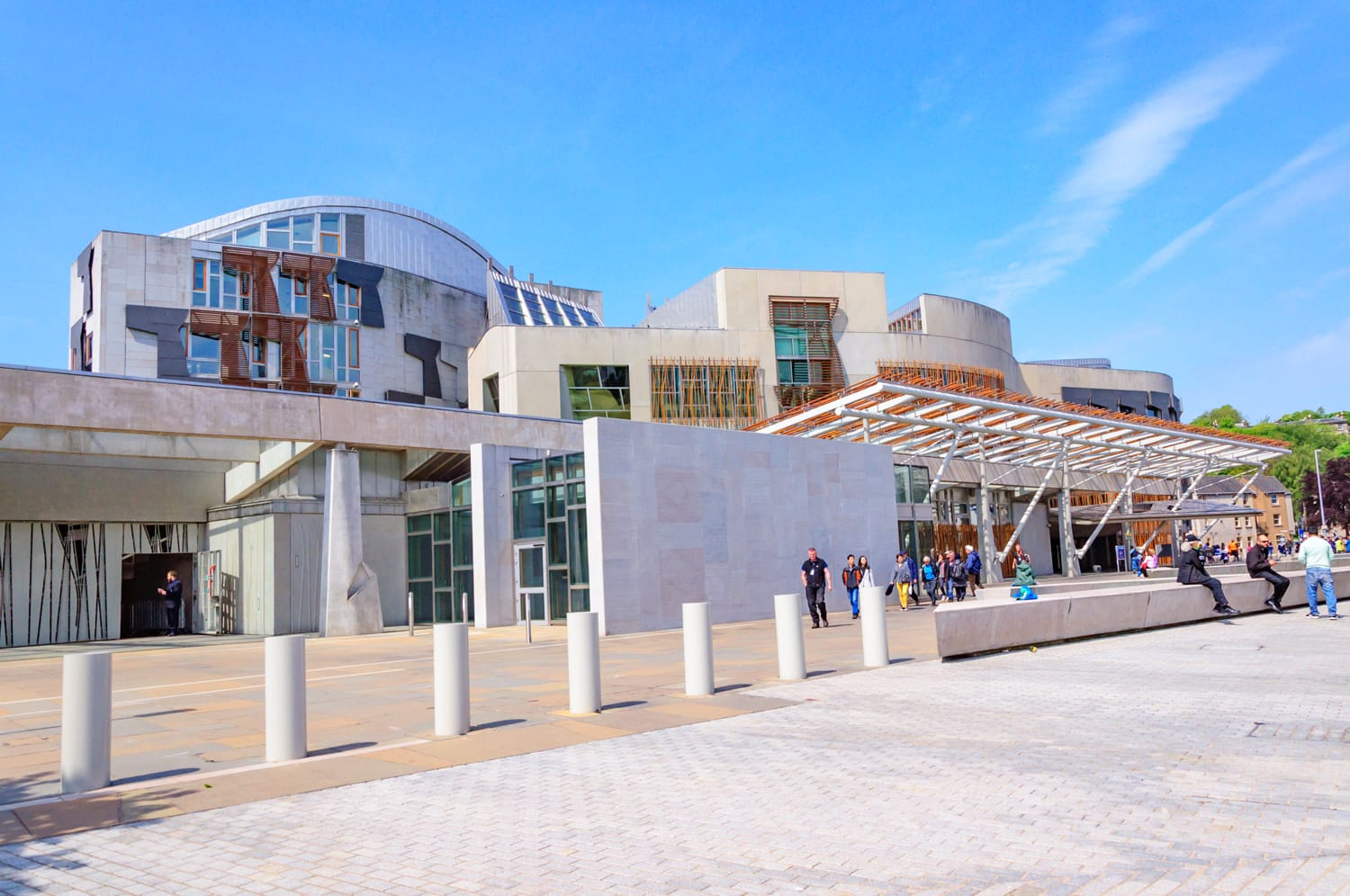 Exterior of the Scottish Parliament Building, Holyrood, Edinburgh, Scotland