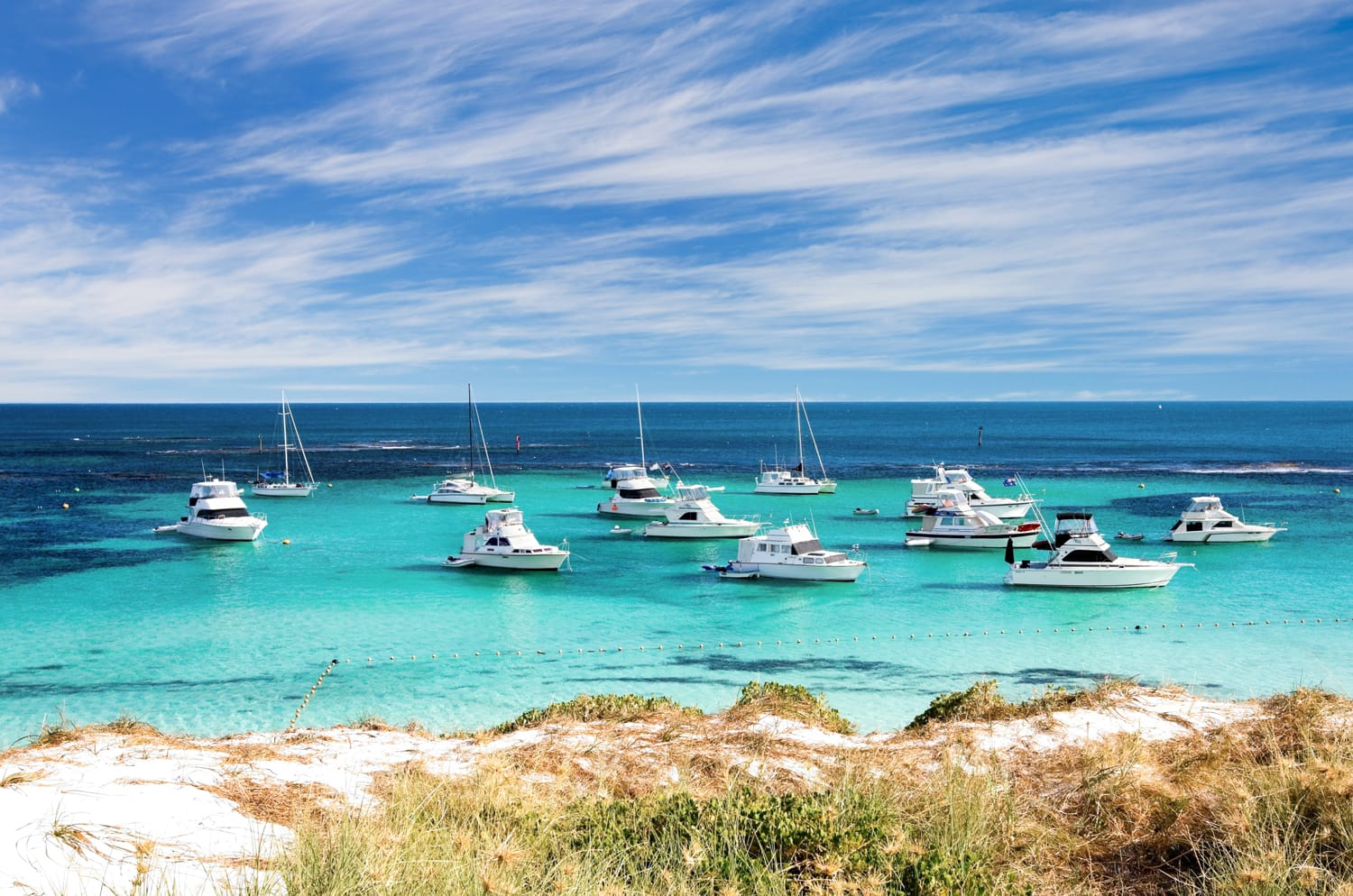 Scecnic view over the shore of Rottnest island in Australia