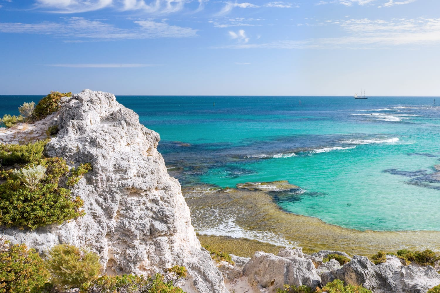 Scenic view over the shore of Rottnest island, Australia