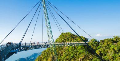 Sky bridge in Langkawi, Malaysia