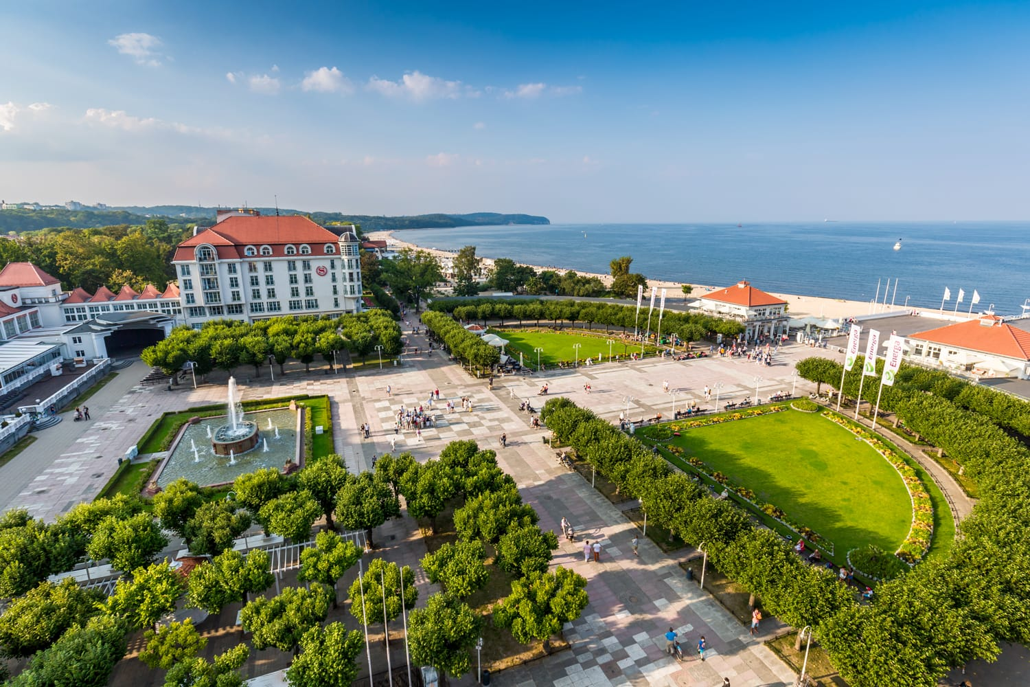 View of the Sopot City in Poland