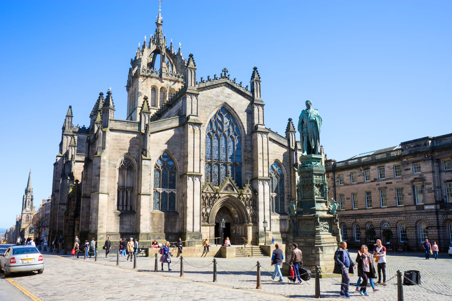 The High Kirk of Edinburgh, also known as the St Giles' Cathedral, is the principal place of worship of the Church of Scotland in Edinburgh.