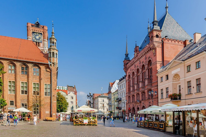 Old Town Marketplace in Torun