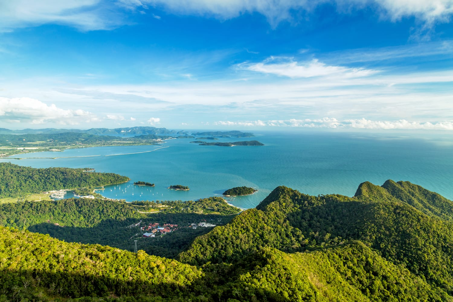 iew of tropical island Langkawi in Malaysia