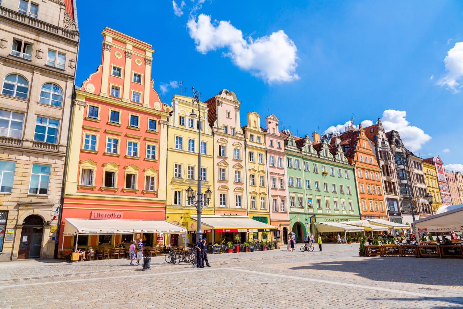 City center and Market Square in Wroclaw, Poland