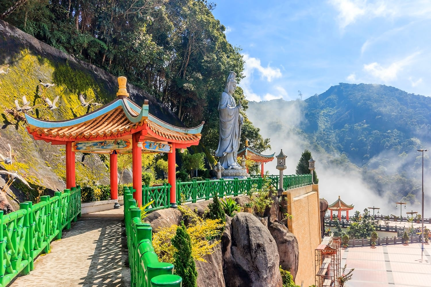 The scenic site of Chin Swee Caves Temple, Genting Highland, Malaysia. - The Chin Swee Caves Temple is situated in the most scenic site of Genting Highlands.