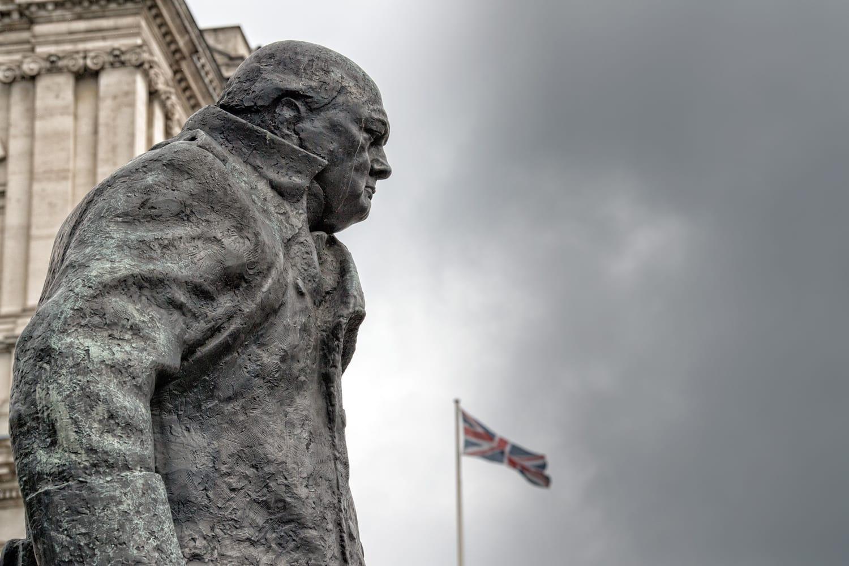 Churchill Statue in London, UK