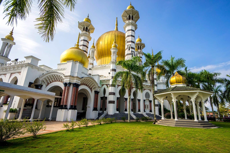Ubudiah mosque at Kuala Kangsar Perak Malaysia with Islamic architecture