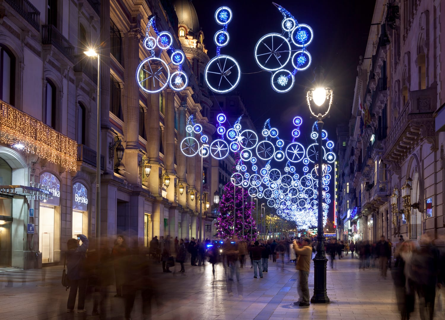 Christmas decoration in Barcelona, Spain