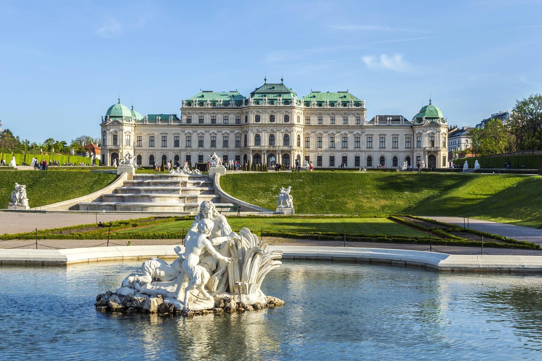 Belvedere Palace in summer, Vienna, Austria