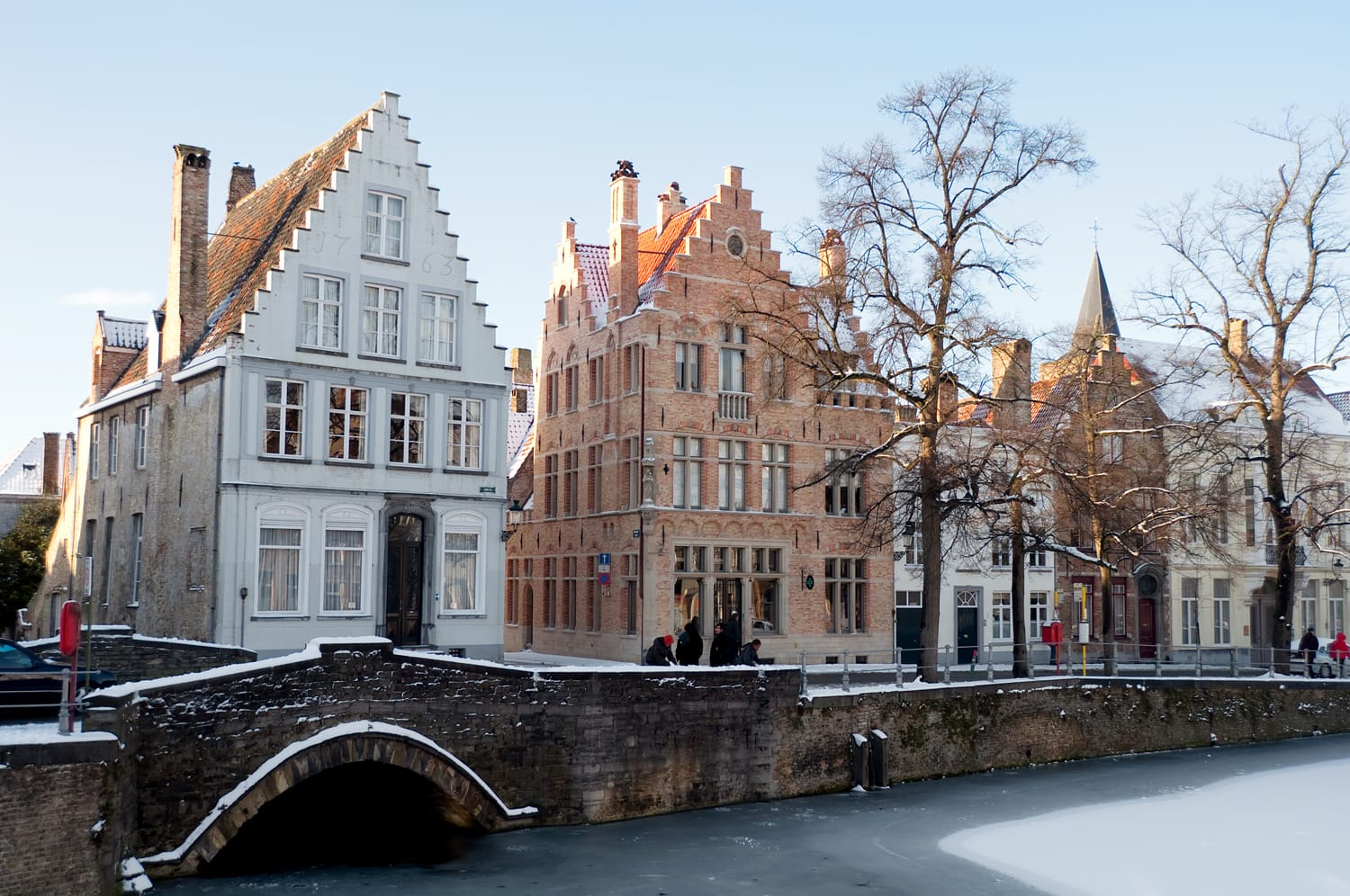 Bruges in Belgium during winter