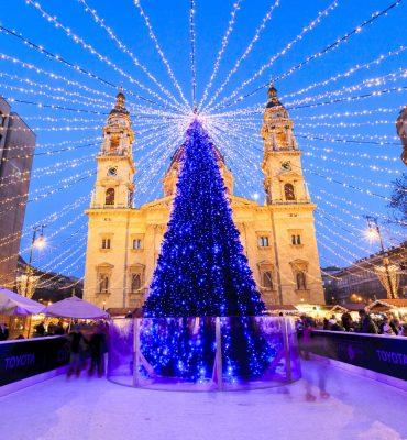 Christmas market in Budapest, Hungary