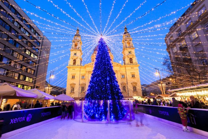 Christmas market in Budapest, Hungary