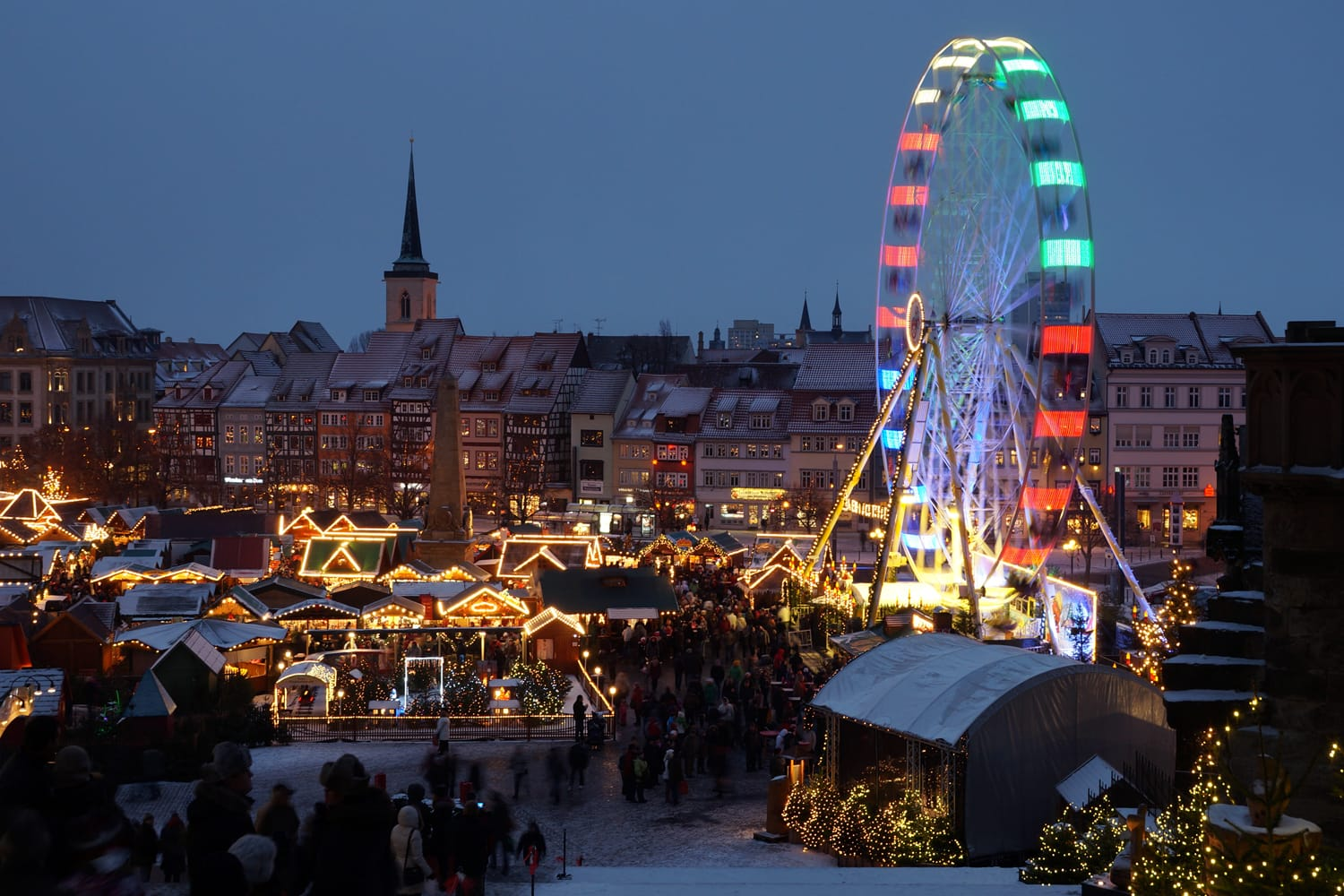 Christmas market in Erfurt Germany