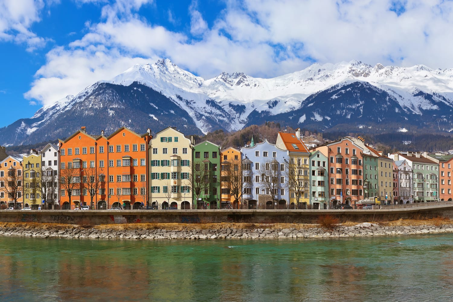 Innsbruck in Austria during winter