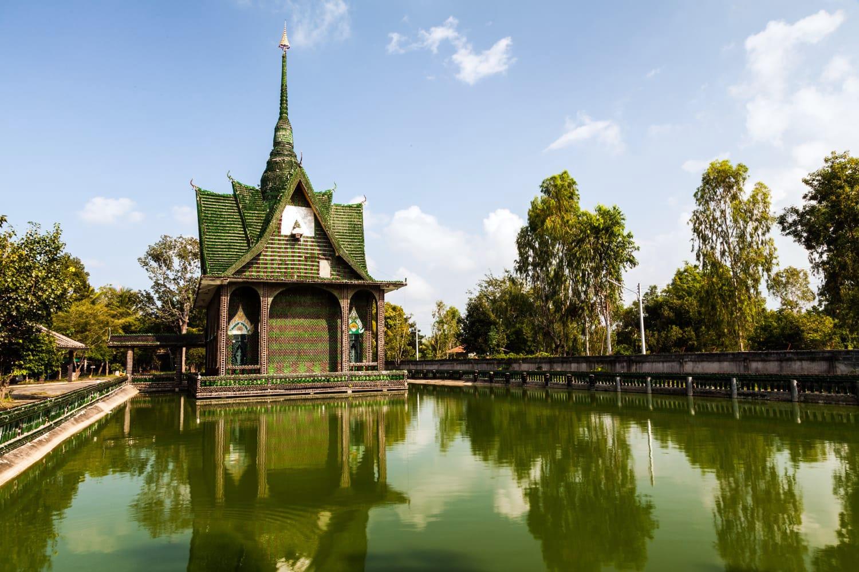 Wat Pa Maha Chedi Kaew (Wat Lan Khuad), Srisaket, North-East of Thailand