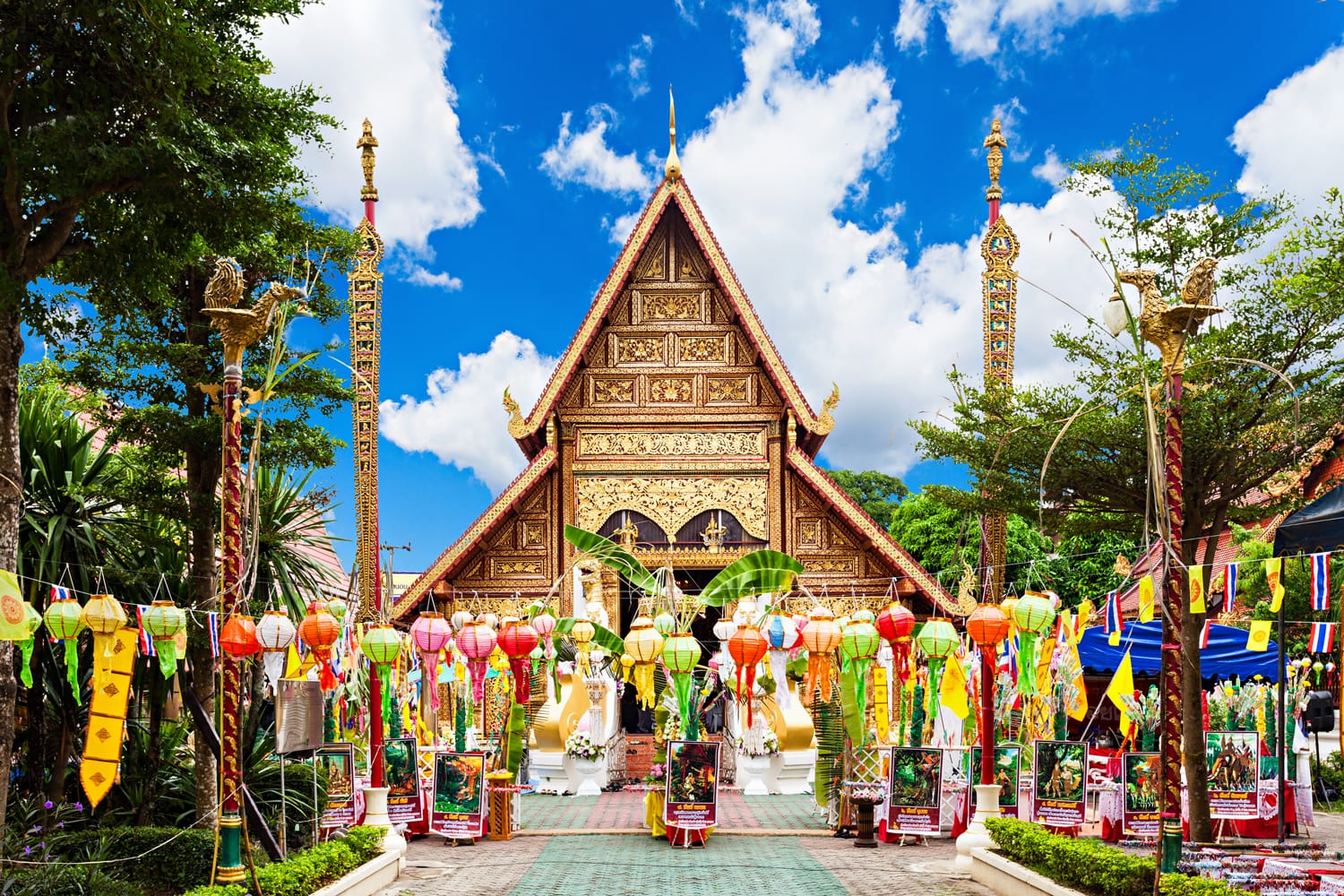 Wat Phra Singh is a buddhist temple located in Chiang Rai, northern Thailand