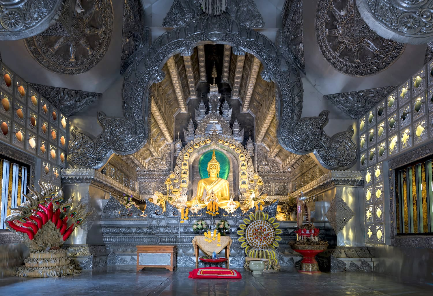 Inside Wat Sri Suphan, the famous Silver Temple in Chiang Mai, Thailand