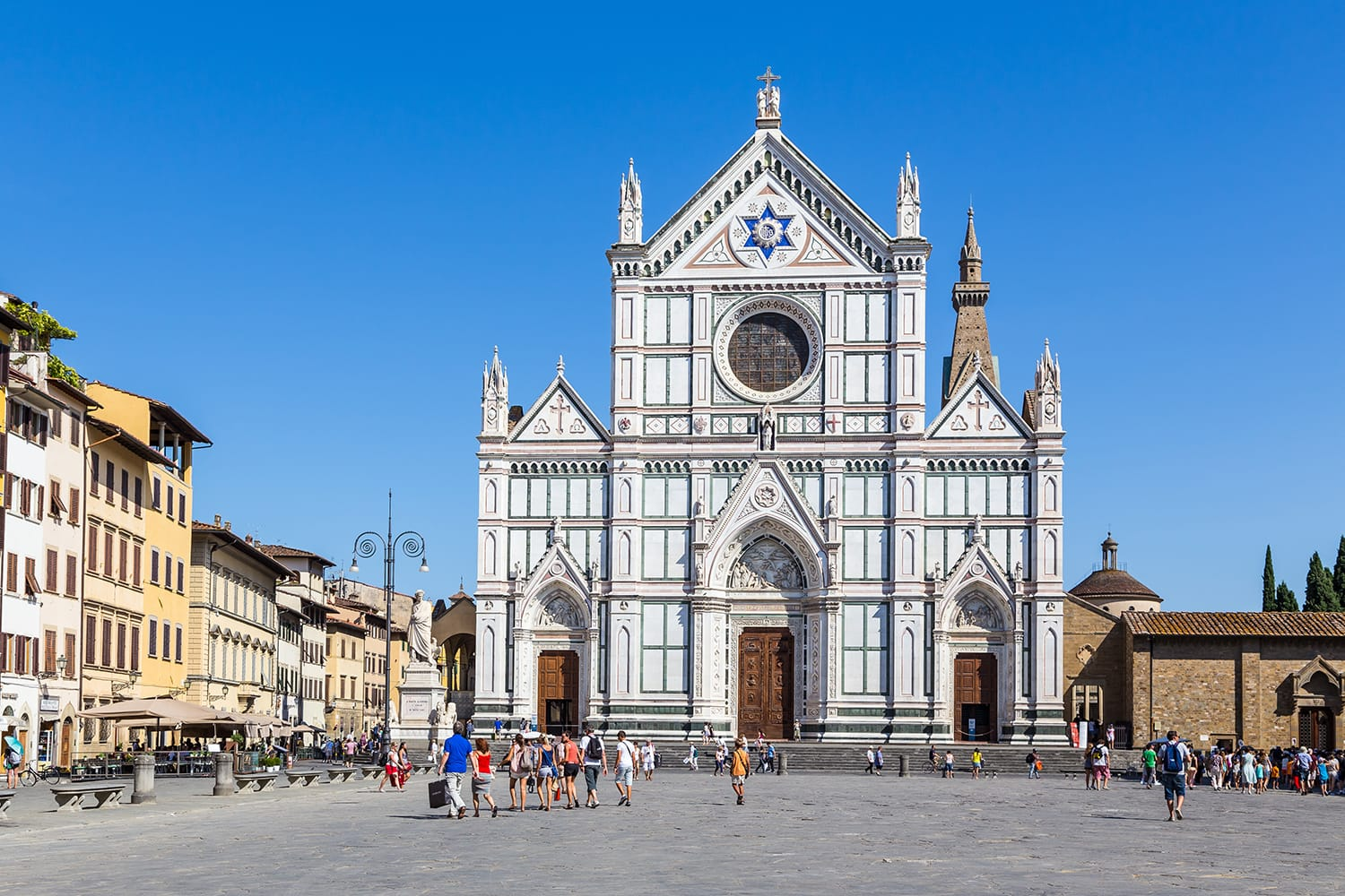 Santa Croce church in Florence in (Firenze), Tuscany, Italy