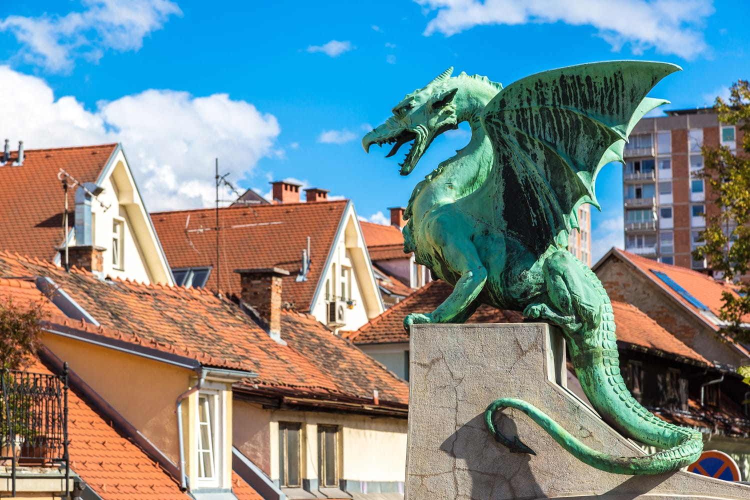 Dragon Bridge in Ljubljana Slovenia