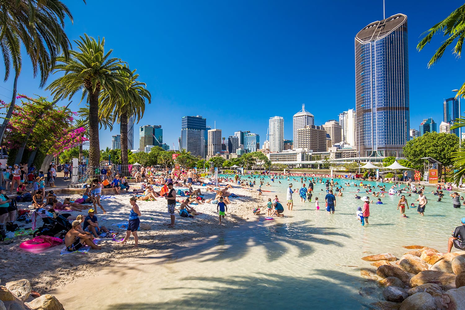 Streets Beach in South Bank Parkland in Brisbane, Australia