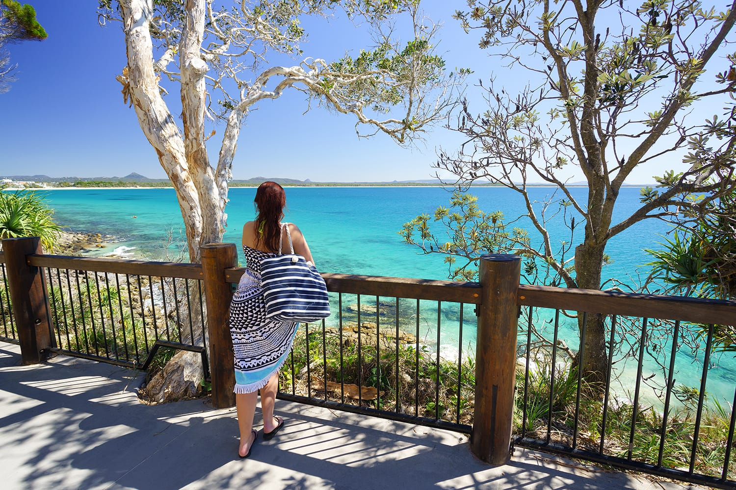 Looking out over Noosa National Park in Australia