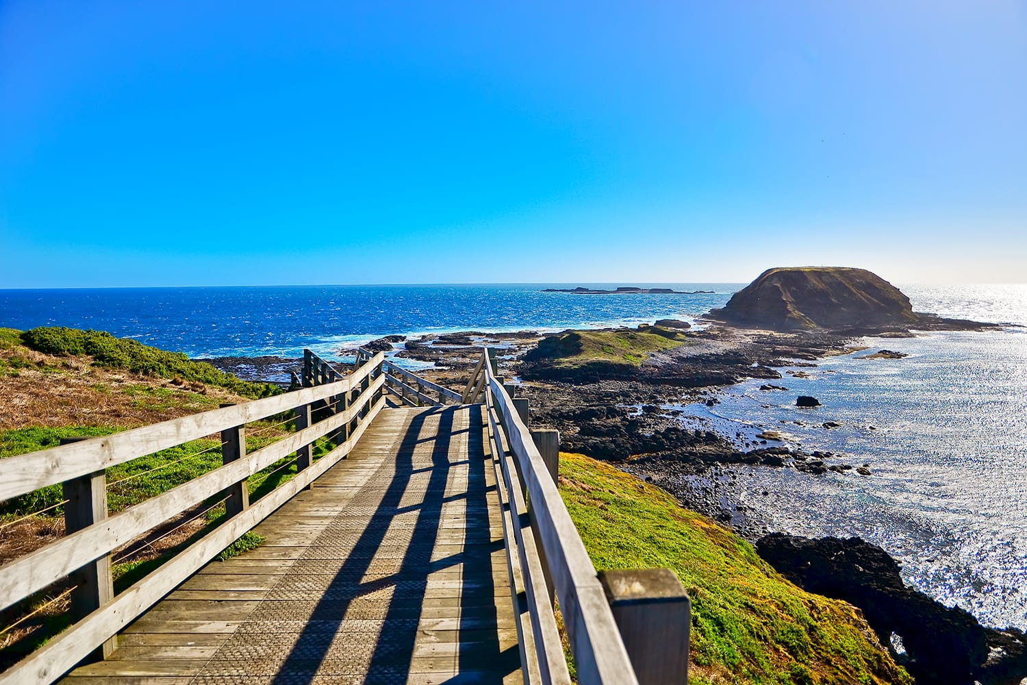 View of the coastline at Nobbies Centre in Phillip Island, Victoria, Australia