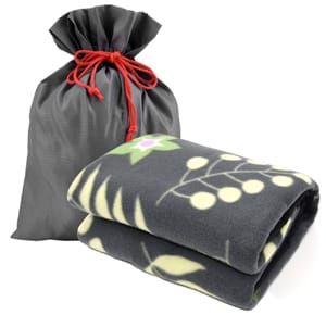 Forestfish Portable Fleece Travel Blanket