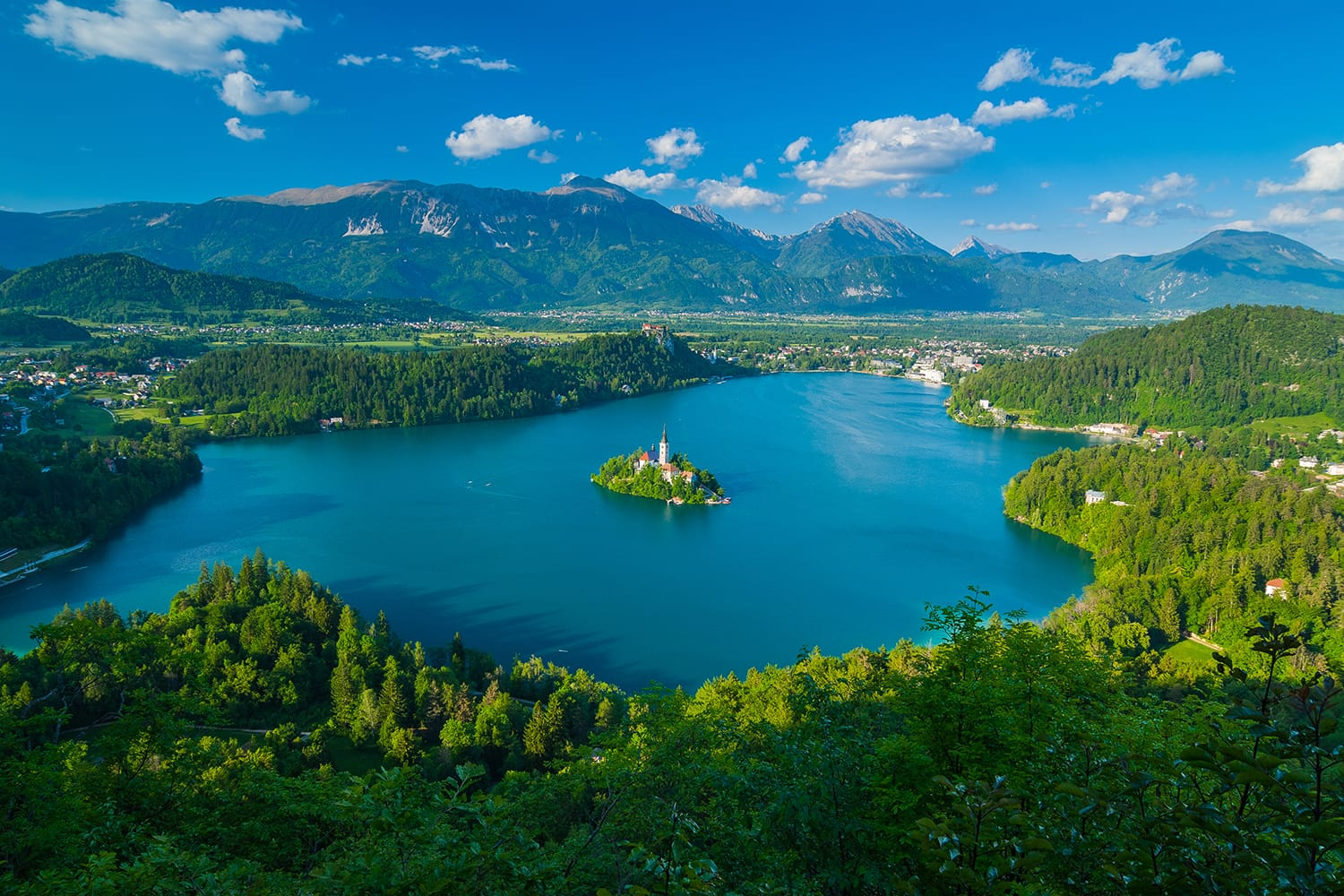 Lake Bled as seen from Mala Osojnica
