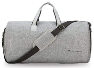 Modoker Convertible Garment Bag with Shoulder Strap