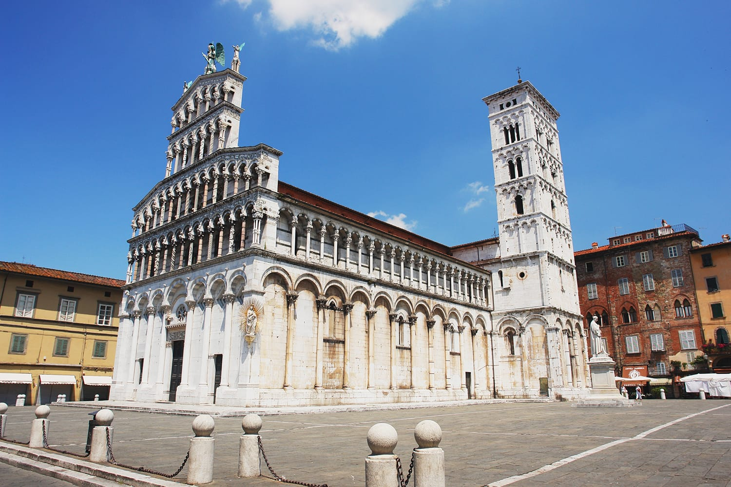 View of the church San Michele In Foro, Lucca, Italy