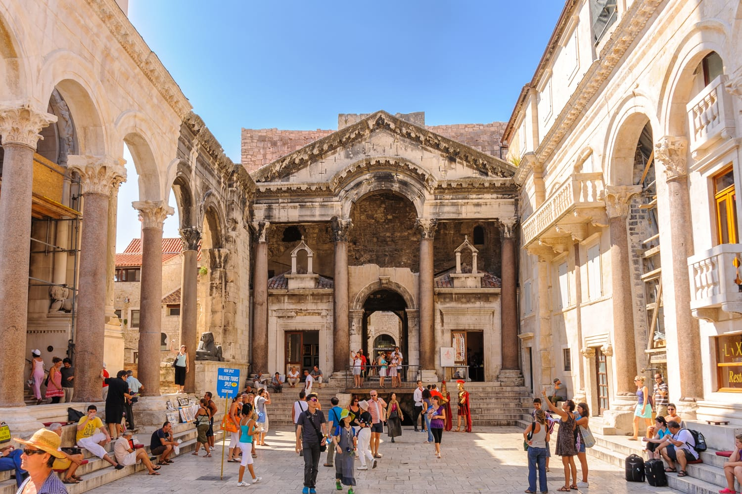 Prothyron and Peristyle at the Diocletian Palace at Split, Croatia