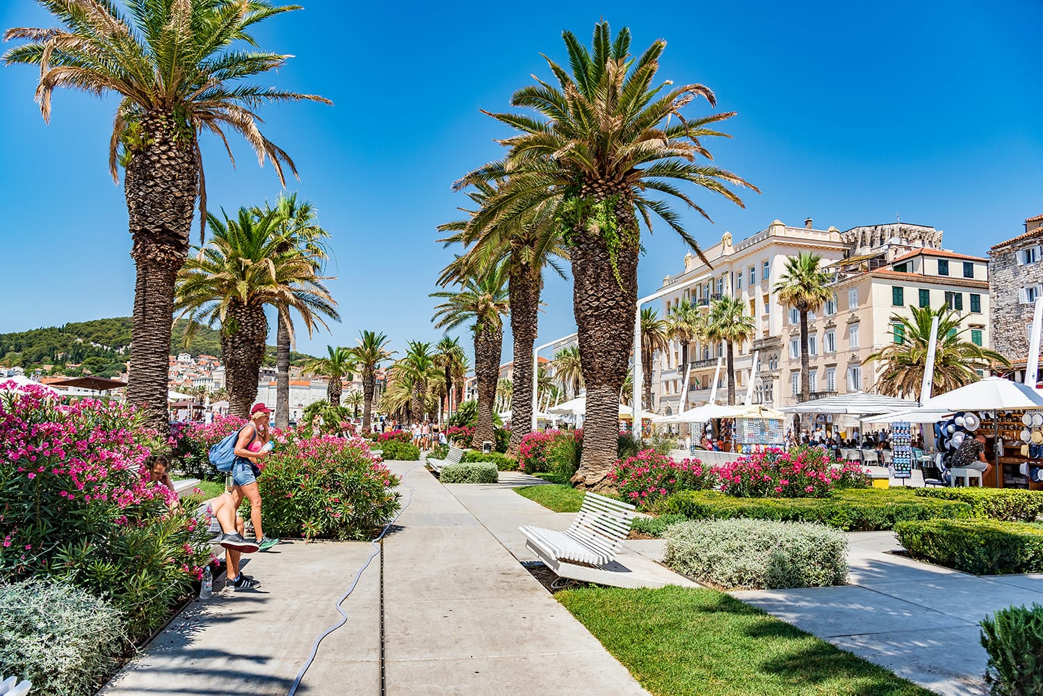 Riva promenade in Split, Croatia