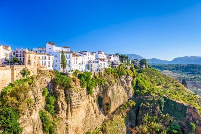 Ronda, Spain old town cityscape on the Tajo Gorge