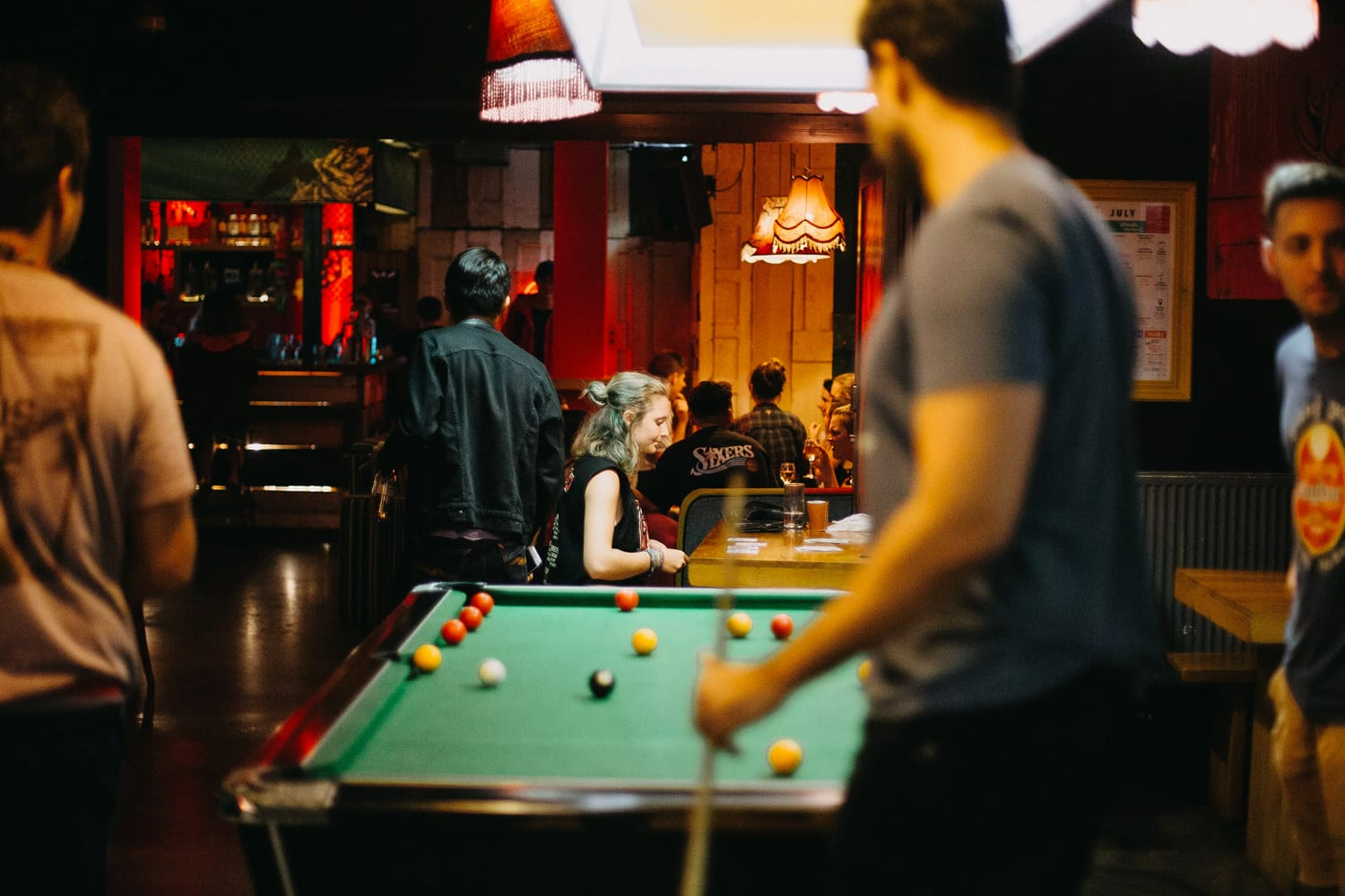 Pool table at Clink78 Hostel in London