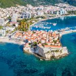 Budva, Montenegro from the air.