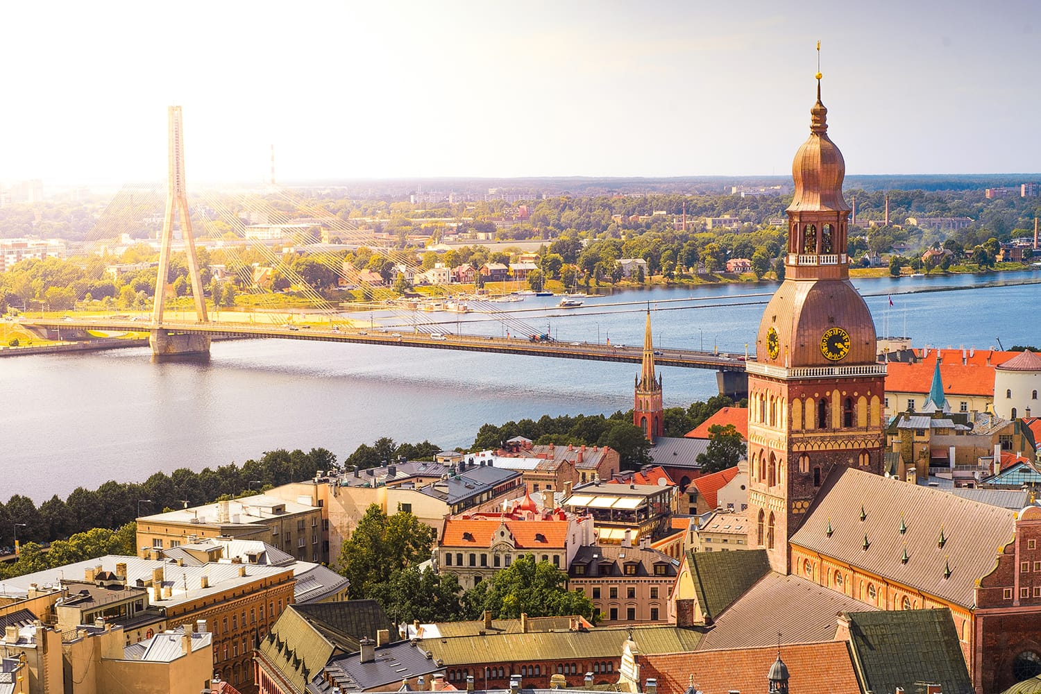 View of Old Riga from the St. Peter's Church, Riga, Latvia