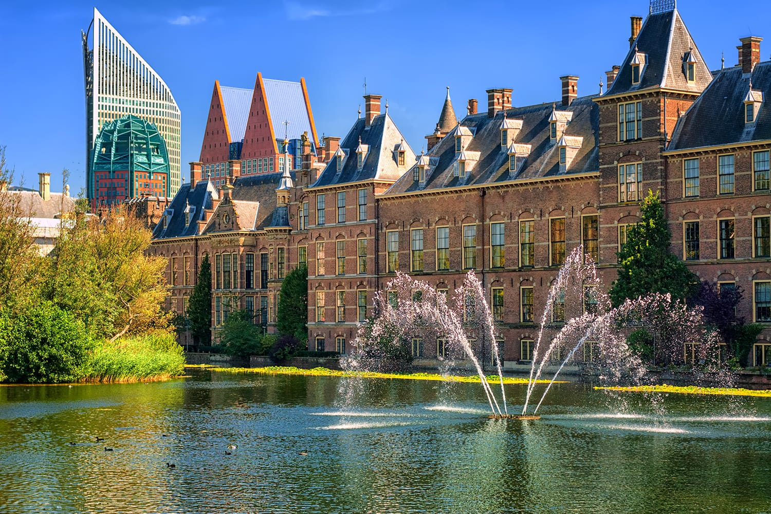 iew of the Binnenhof palace on place of Parliament, The Hague, Netherlands