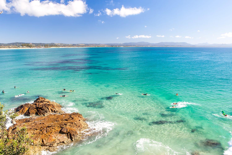 Byron Bay in Australia on a clear day