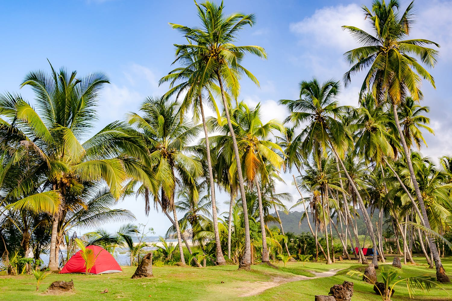 Campground at Tayrona National Park in Colombia