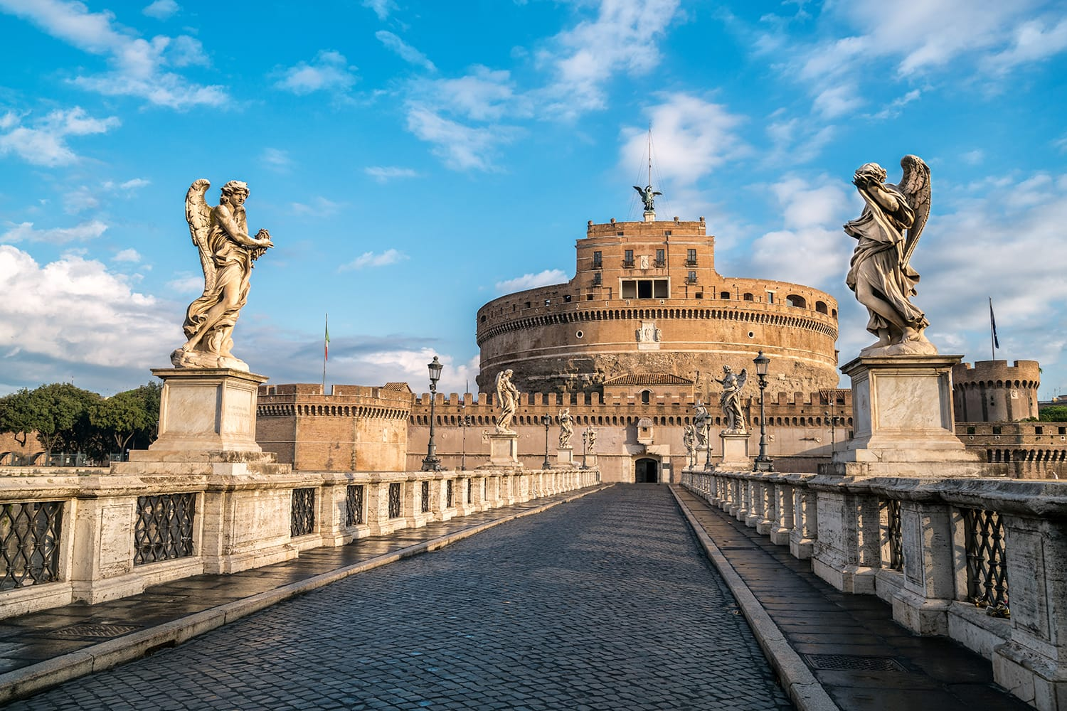 Castel Sant Angelo or Mausoleum of Hadrian in Rome Italy, built in ancient Rome, it is now the famous tourist attraction of Vatican. Castel Sant Angelo was once the tallest building of Vatican