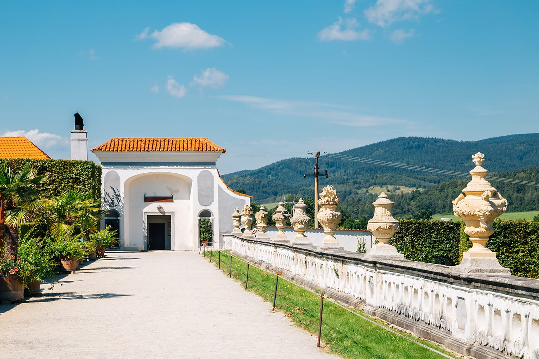 Castle Garden at Cesky Krumlov, Czech Republic