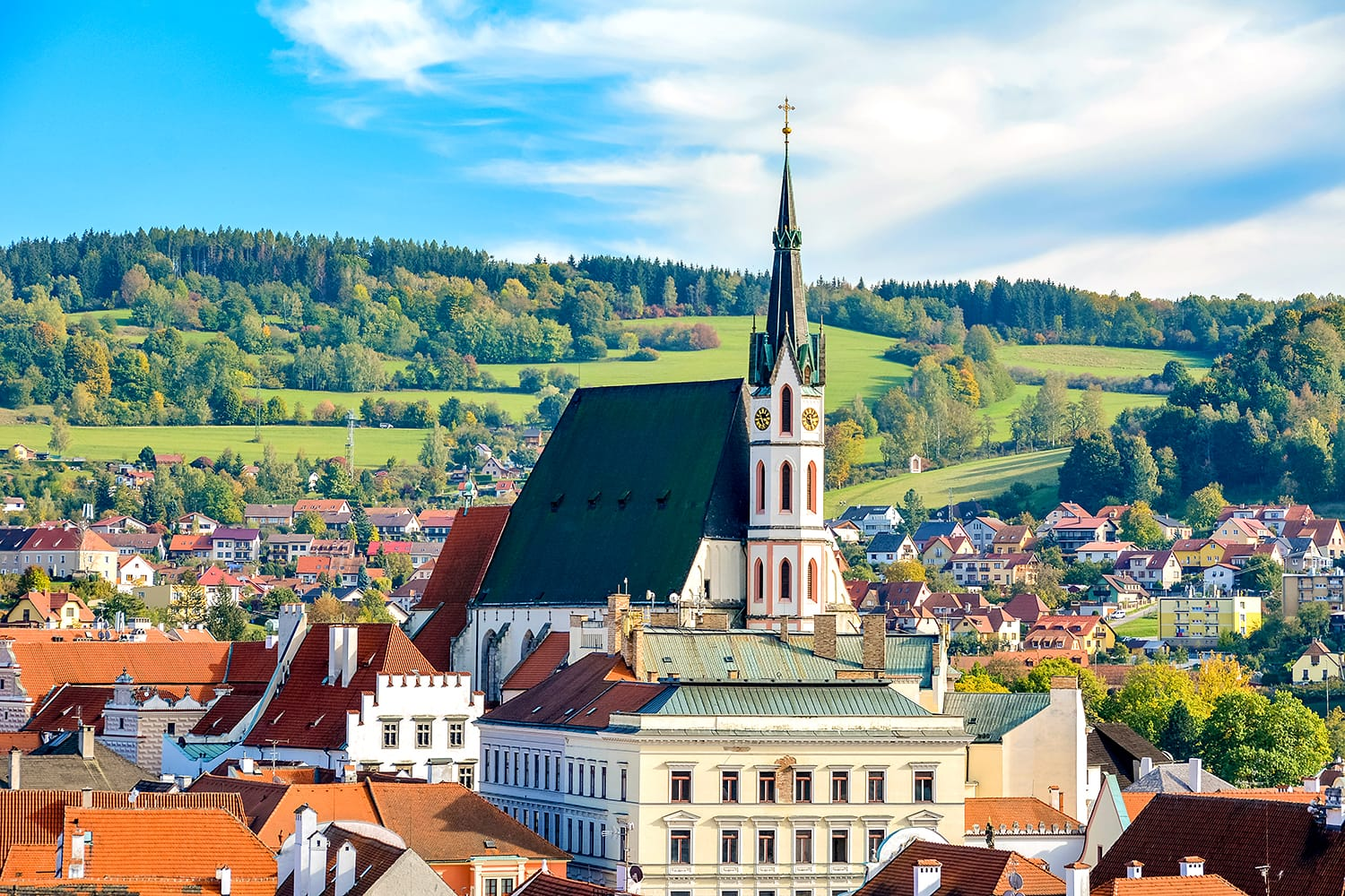 Catholic Church of St. Vitus in Cesky Krumlov is town in South Bohemian Region of Czech Republic. Its historic centre, centred around Cesky Krumlov Castle.