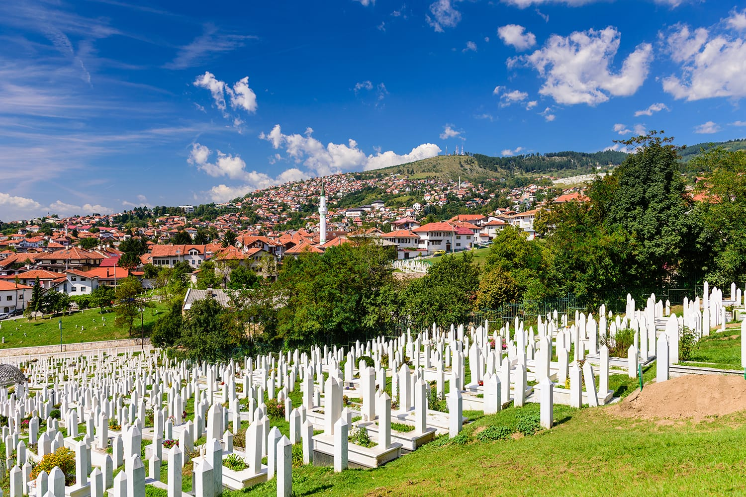 Cemetery in Sarajevo, capital city of Bosnia and Herzegovina